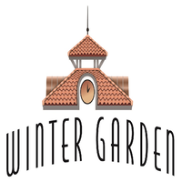 Logo for Winter Garden. The logo states, ' Winter Garden' and has the top of a government building sitting on top of the text.