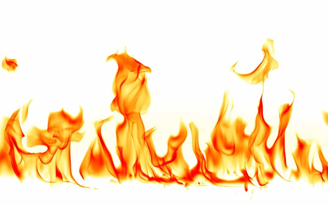 Fire with white background